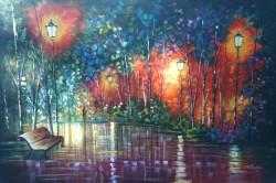 Picturi cu peisaje Aleea umeda
