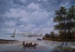 Picturi cu peisaje Pescari olandezi