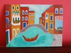 Picturi cu peisaje O zi in Venetia