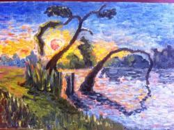 Picturi cu peisaje Balta la Peris