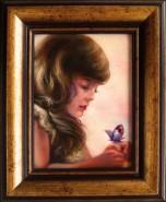 Picturi cu potrete/nuduri Fetita cu fluture