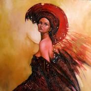 Picturi cu potrete/nuduri Inger rosu