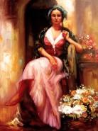 Picturi cu potrete/nuduri Tiganca florareasa
