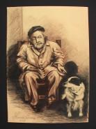 Picturi cu potrete/nuduri Batranul cu cainele