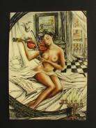 Picturi cu potrete/nuduri Nud in oglinda
