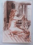 Picturi cu potrete/nuduri Nud spaland