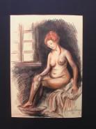 Picturi cu potrete/nuduri Nud spalanduse