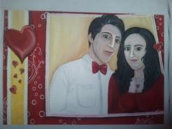 Picturi cu potrete/nuduri Razvan si amalia