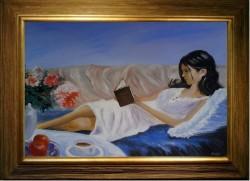 Picturi cu potrete/nuduri Lectura