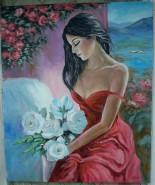 Picturi cu potrete/nuduri My lady in red