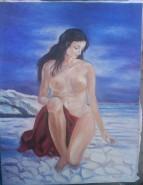Picturi cu potrete/nuduri Nud pe plaja