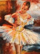 Picturi cu potrete/nuduri Balerina ioana