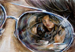 Picturi cu potrete/nuduri Cafeaua