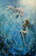 Picturi cu potrete/nuduri Delfinii