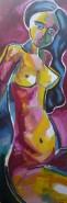 Picturi cu potrete/nuduri Bruneta