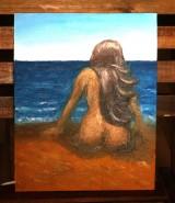 Picturi cu potrete/nuduri Nud bronzat pe plaja bruna