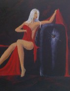 Picturi cu potrete/nuduri Detaliu rosu