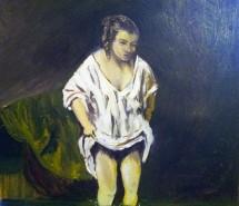 Picturi cu potrete/nuduri Fata la rau