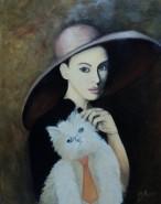 Picturi cu potrete/nuduri Fata cu palarie