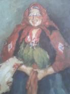 Picturi cu potrete/nuduri Femeie in rosu