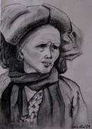Picturi cu potrete/nuduri Portret femeie din mongolia