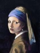 Picturi cu potrete/nuduri Fata cu cercei de perla