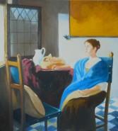 Picturi cu potrete/nuduri Fata in albastru