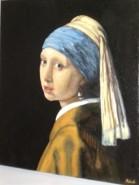 Picturi cu potrete/nuduri Fata cu cercel de perla