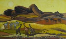 Picturi cu potrete/nuduri Africa