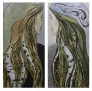 Picturi cu potrete/nuduri In oglinda