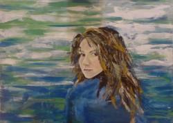 Picturi cu potrete/nuduri Autoportret la marea ionica