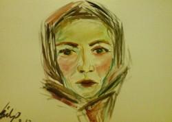 Picturi cu potrete/nuduri Portret de taranca