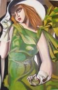 Picturi cu potrete/nuduri Fata cu manusi