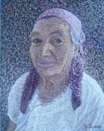 Picturi cu potrete/nuduri Bunica materna-detaliu