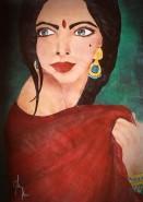 Picturi cu potrete/nuduri Indianca