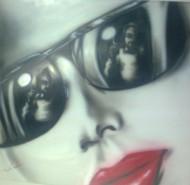 Picturi cu potrete/nuduri Red lips