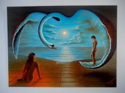 Picturi cu potrete/nuduri Adam si eva