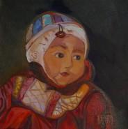 Picturi cu potrete/nuduri Fetita cu buburuza