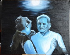Picturi cu potrete/nuduri Dansand cu luna
