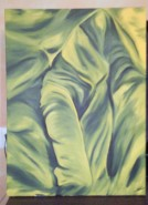 Picturi cu potrete/nuduri Fata din frunze