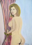 Picturi cu potrete/nuduri Nud la fereastra
