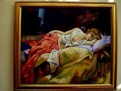 Picturi cu potrete/nuduri Fata dormind