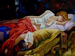 Picturi cu potrete/nuduri Fata dormind 2