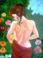 Picturi cu potrete/nuduri Gradina de trandafiri