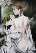 Picturi cu potrete/nuduri At the mirror