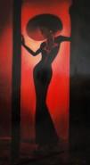 Picturi cu potrete/nuduri Black lady