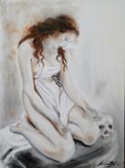 Picturi cu potrete/nuduri Canova alive -the repentant magdalene