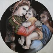 Picturi cu potrete/nuduri Madonna della sedia