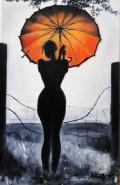 Picturi cu potrete/nuduri Red umbrella