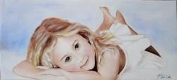 Picturi cu potrete/nuduri The little girl
